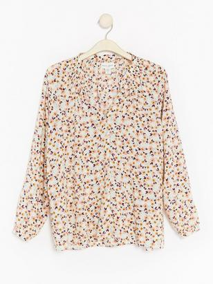 Viscose Blouse with Gatherings  Pink