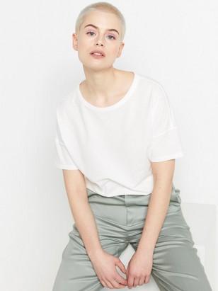 Kortermet bomulls-T-skjorte Hvit