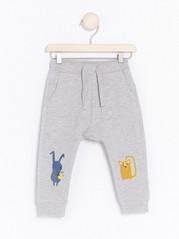Sweatpants with Animal Motifs Grey