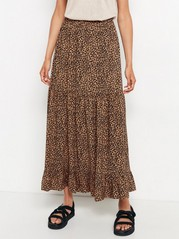 Maxi skirt in viscose  Brown