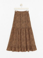 Maxi skirt in viscose  Brown