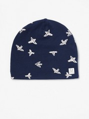 Patterned Jersey Cap Blue