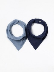 2-Pack Scarves Blue
