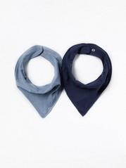2-pack scarves Blå