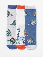 3-pack Socks with Dinosaures Aqua