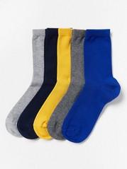 Sada 5párů ponožek Modrá