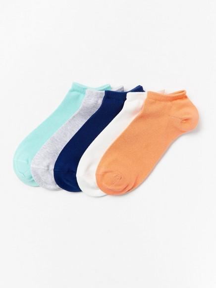 5-pakning med flerfargede sokker Blå