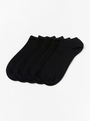 Sada 5párů kotníkových ponožek Černá