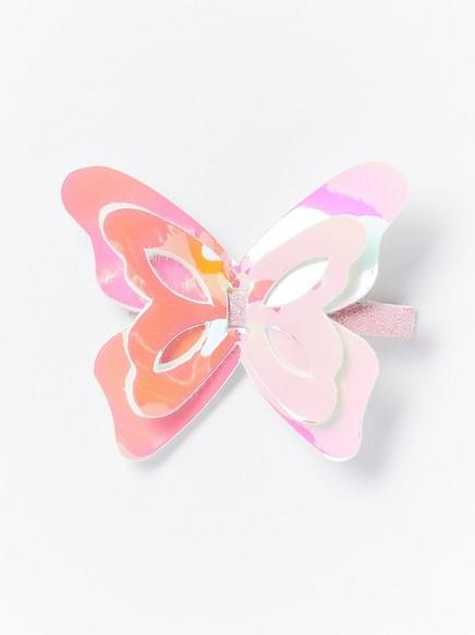 Hårspenne med sommerfugl Rosa