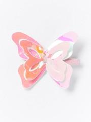 Hårspänne med fjäril Rosa