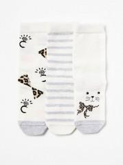 3-pack Socks with Antislip White