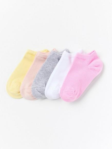 Varrettomat sukat, 5 paria Vaaleanpunainen