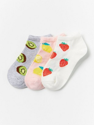 3-pack Footies with Fruits Pink
