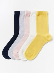 5-pack Socks Yellow