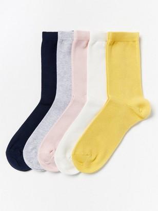 5-pack Socks Yellow