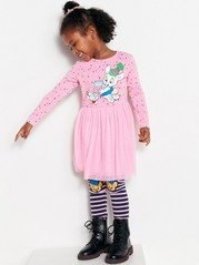 Pink Dress with Bamse Print Pink