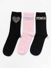 3-pack Socks  Black