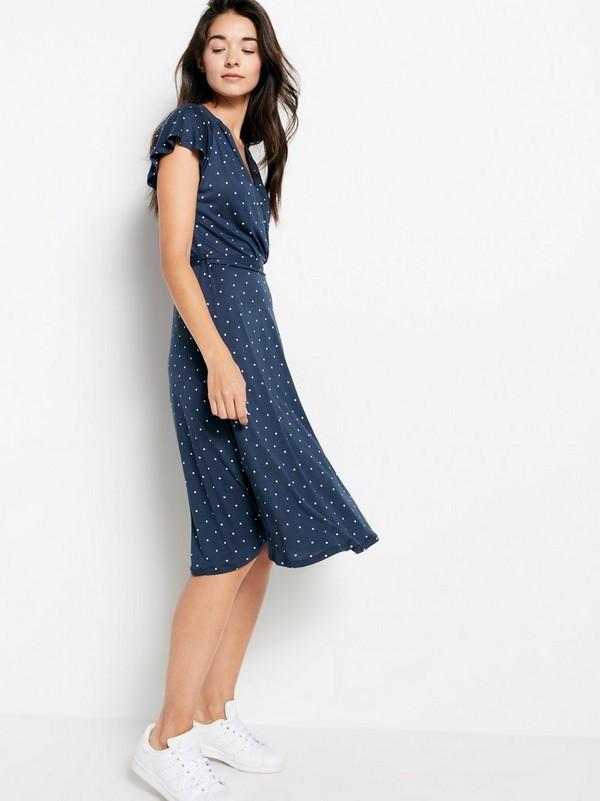 8c175e8f7c30 Blå Mönstrad klänning i Tencel® blandning 244:50 | Lindex