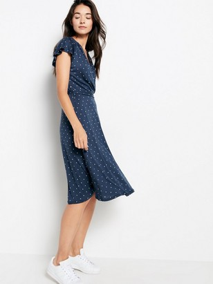 Patterned Dress in Tencel® Blend Blue