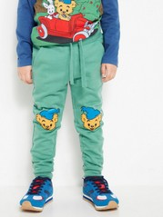 Sweatpants with Bamse Prints Green