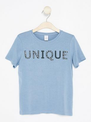T-shirt with Glittery Decorations Blue