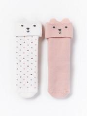 2-pack Antislip Socks Pink
