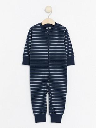 Pruhované pyžamo Modrá