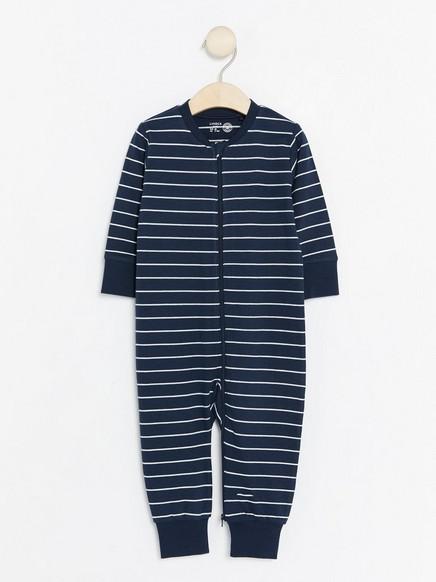 Raidallinen pyjama Sininen