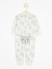 Pyjamas with Bears White
