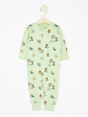 Pyjamas with Dogs and Cats Green
