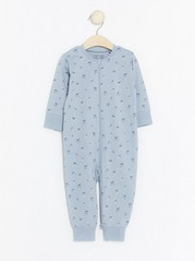 Pyjamas with Cherry Pattern Blue