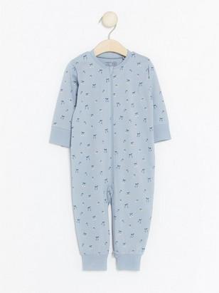Pyžamo se vzorem třešní Modrá
