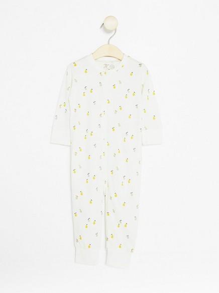 Pyjamas med pærer Hvit