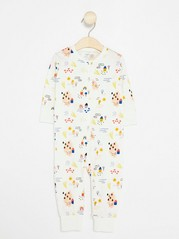 Kuvioitu pyjama Valkoinen