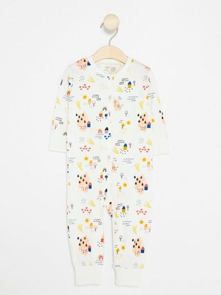 Mønstret pyjamas Hvit