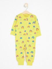 Pyjama, jossa sateenkaarikuvio Keltainen