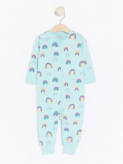 Pyjamas with Rainbow Pattern Turquoise