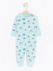 Pyjama, jossa sateenkaarikuvio Turkoosi