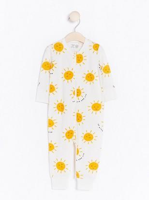 Pyžamo se sluníčkovým vzorem Bílá
