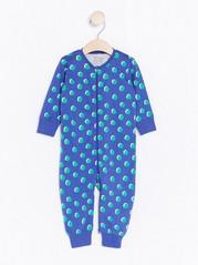 Pyjama, jossa pilkkukuviointi Sininen