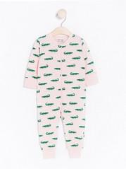 Pyjama, jossa krokotiileja Vaaleanpunainen