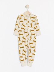 Pyjamas with Leopard Pattern Beige