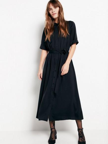 Černé šaty se zavazováním Černá