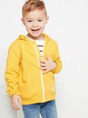 Hooded Sweatshirt with Zipper Yellow