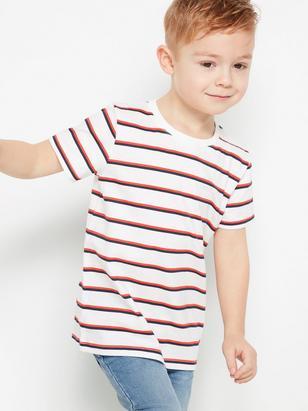 Randig t-shirt Vit