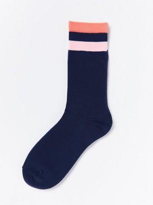 Ponožky spruhy Modrá