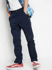 Regular Chinos with Dropped Crotch Blue