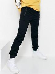 Regular jeans med låg gren Svart