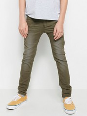 Slim Trousers in Green Khaki