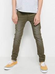 Slim byxor i grönt Khaki